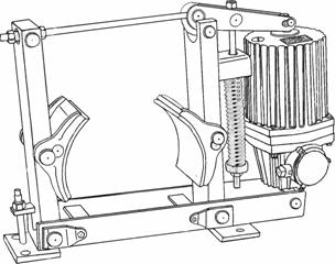 Тормоза колодочные электрогидравлические типа ТКГ